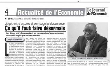 REVUE DE PRESSE: JOURNAL DE L'ECONOMIE